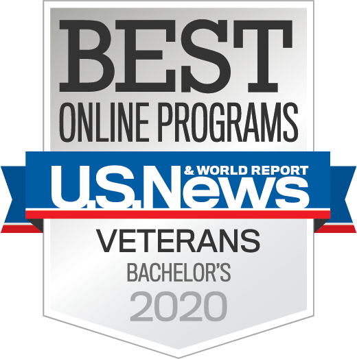 U.S. News & World Report - Best Online Programs - Veterans - Bachelor's 2020