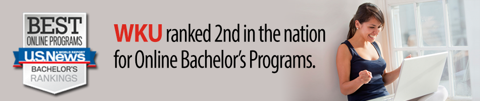 WKU ranked 2nd in the nation for Online Bachelor's Programs