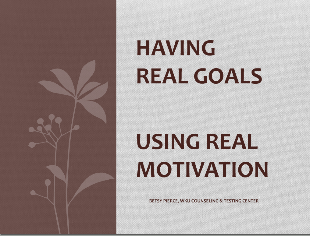 Setting Goals and Staying Motivated Webinar