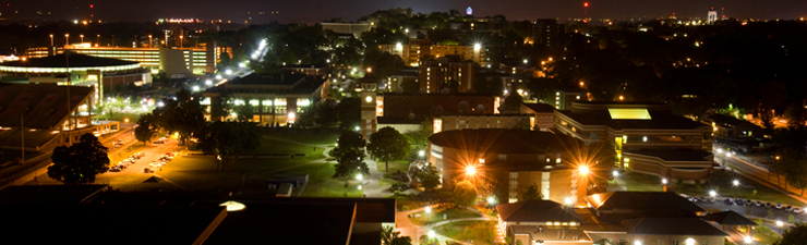 WKU Campus at night