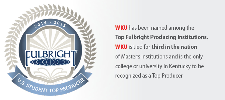 WKU has been named among the Top Fulbright Producing Institutions.