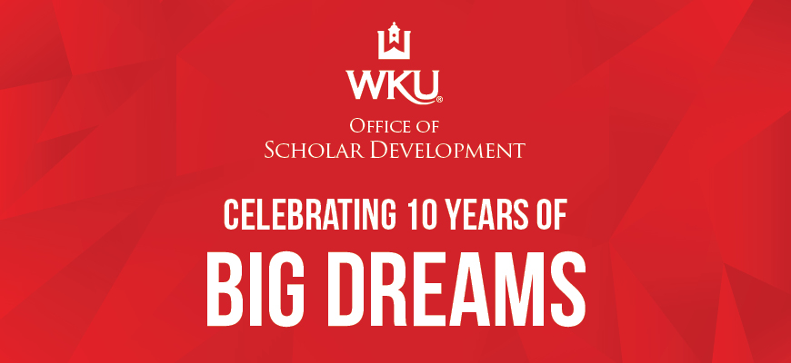 OSD Graphic with text: Celebrating Ten Years of Big Dreams