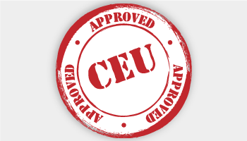 CEU Approved rubber stamp graphic