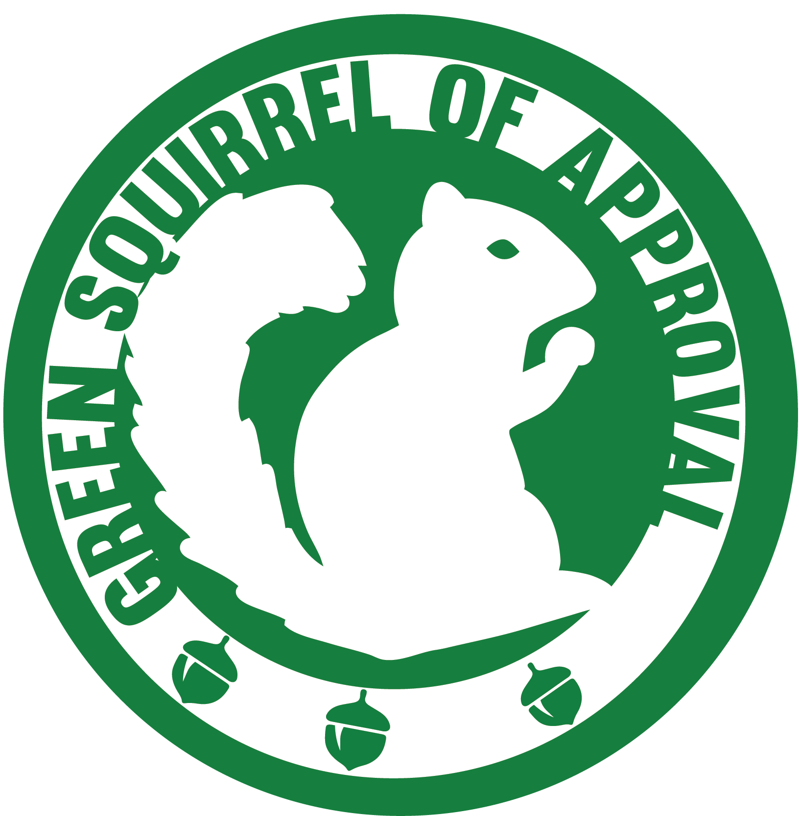 office of sustainabilty green squirrel approval sticker