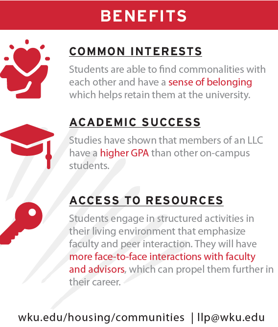 llp benefits: common interests, academic success, and access to resources
