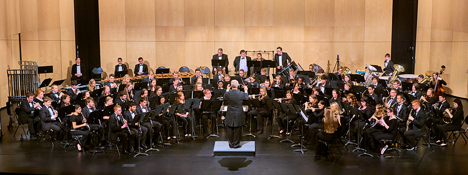 WKU Symphonic Band at their October 9th performance at Van Meter Hall. Photo by Jeff Smith