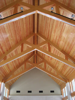 Chandler Memorial Chapel ceiling