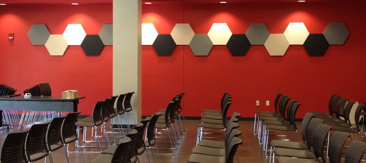 DSU Second Floor Soundproofing Panels