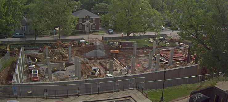 Construction Progress at Ogden College Hall (4/27/2016)