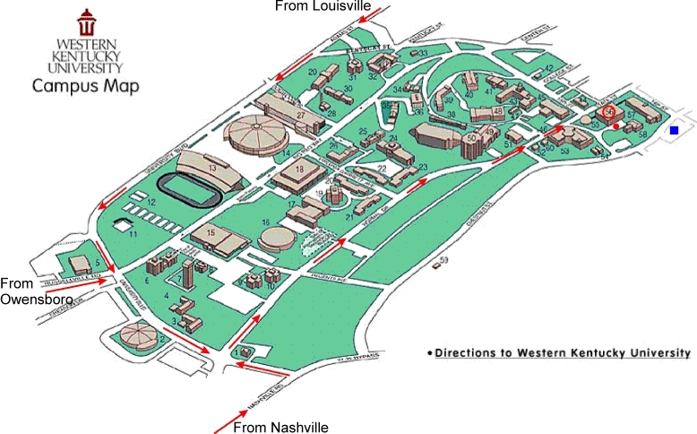 web page for directions to WKU campus
