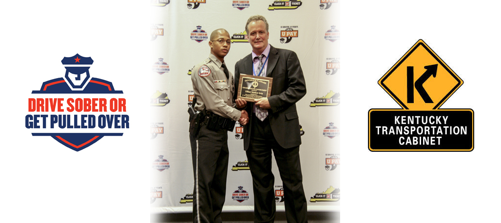 Officer Irvin recognized for his DUI enforcement efforts by the Governor's Officer on December 16, 2014