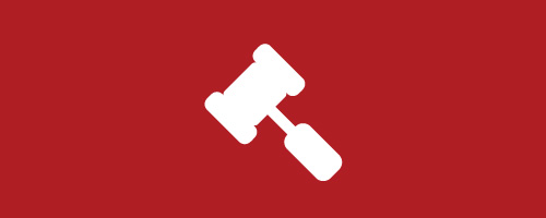 Graphic of a gavel icon