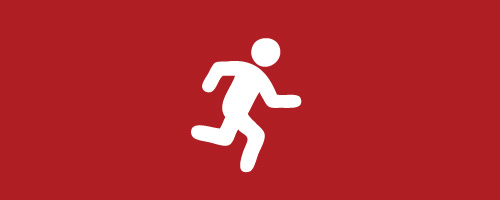 Graphic of an active person icon