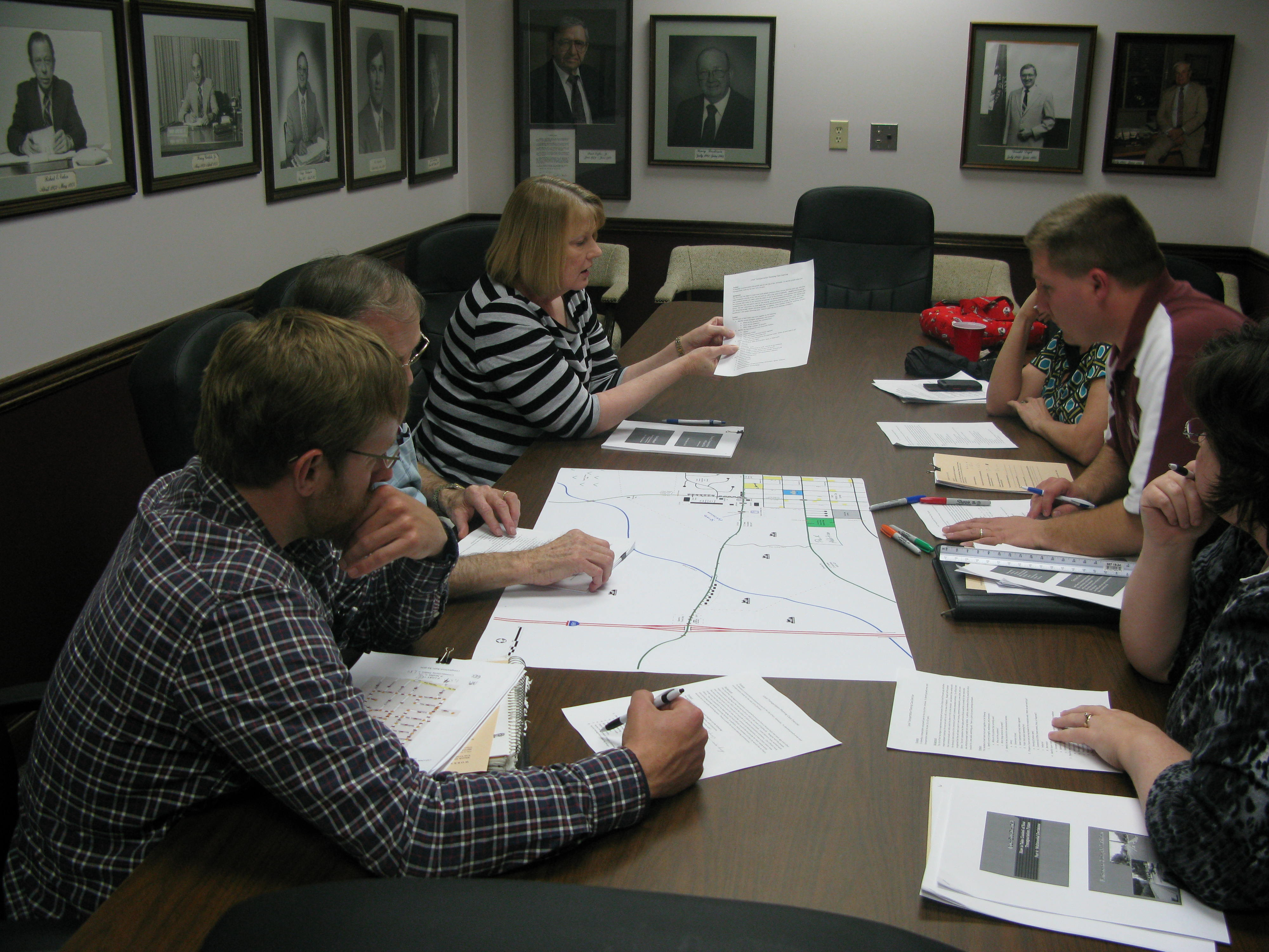 Planning and zoning officials from the ten county BRADD region received training on transportation planning issues at the BRADD offices in March. The interactive workshop was co-sponsored by the Center for Local Governments.