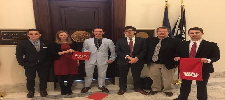 Zach Jones, WIlliam Berry, Austin Hatfield and Jody Dahmer represented the WKU College Youth in Government chapter at the 2nd Annual Washington Legislative Advocacy Summit (WLAS) hosted by the National YMCA College Youth In Government Program.