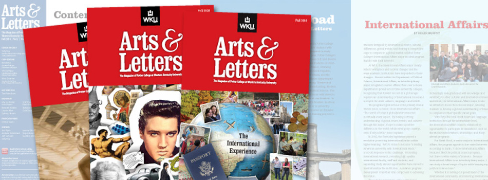 Our team of design professionals at University Publications creates award winning publications and promotional materials for the campus community.