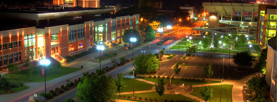 WKU 's Campus at Night