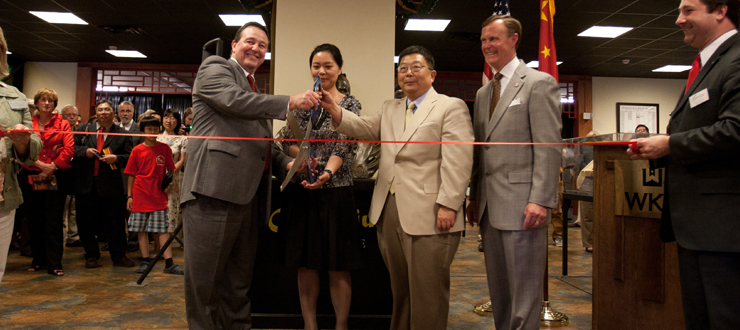 Ribbon Cutting of the Grand Opening of the Chinese Learning Center  at WKU.