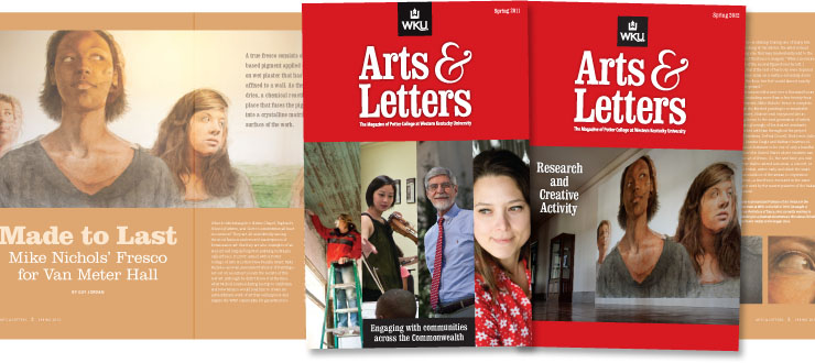PCAL Arts & Letters Magazine designed by WKU Publications