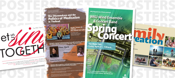 Posters designed by WKU Publications