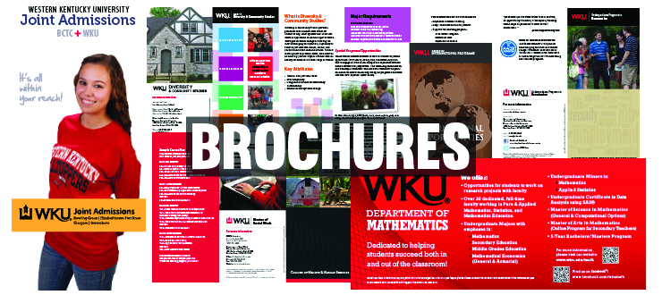 Brochures designed by WKU Publications