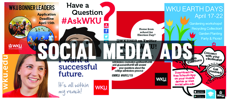 Social Media graphics designed by WKU Publications