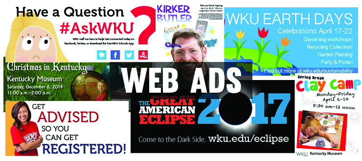 Web ads designed by WKU Publications