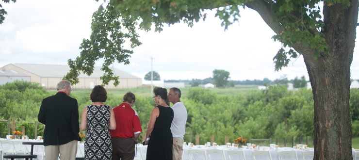 WKU Regents dined on foods from Kentucky farms and producers at the WKU Ag Farm during their annual retreat.
