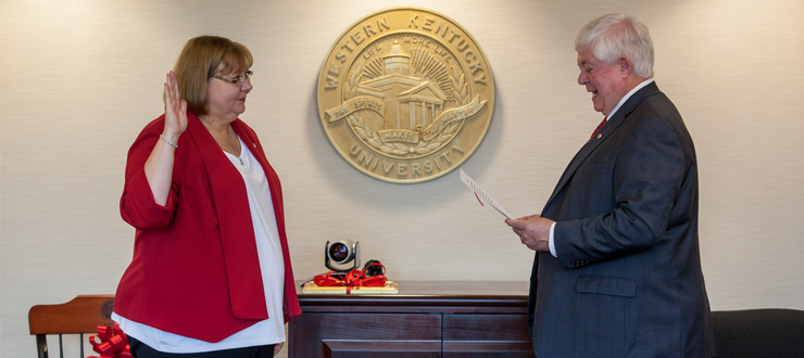 Tamela Smith was sworn in as new Staff Regent on July 24, 2015.