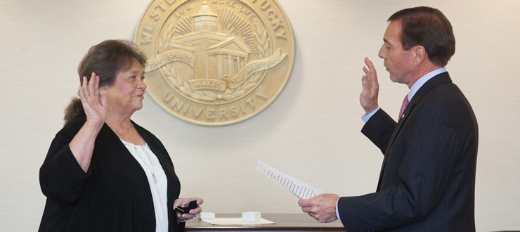 Dr. Barbara Burch was sworn in as new Faculty Regent on October 31, 2014.