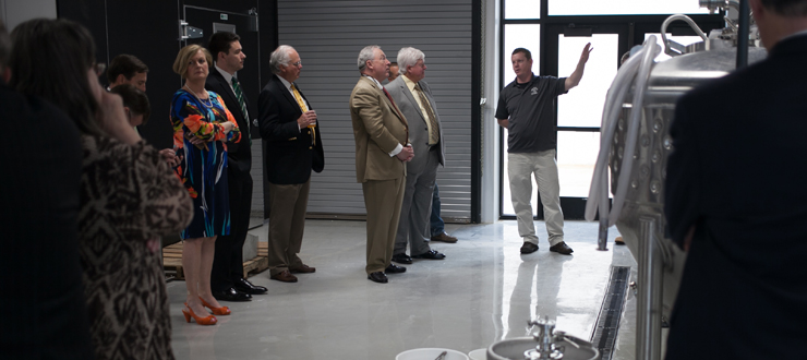 WKU Regents toured the Alltech brewing facility at the Center for Research and Development on April 22, 2016.