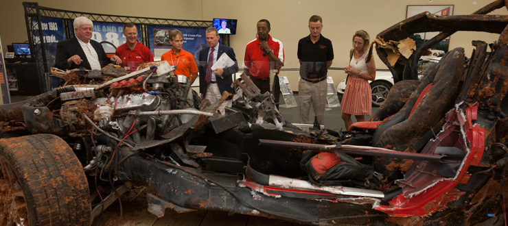 The WKU Board of Regents toured the National Corvette Museum during their annual retreat in July 2014.
