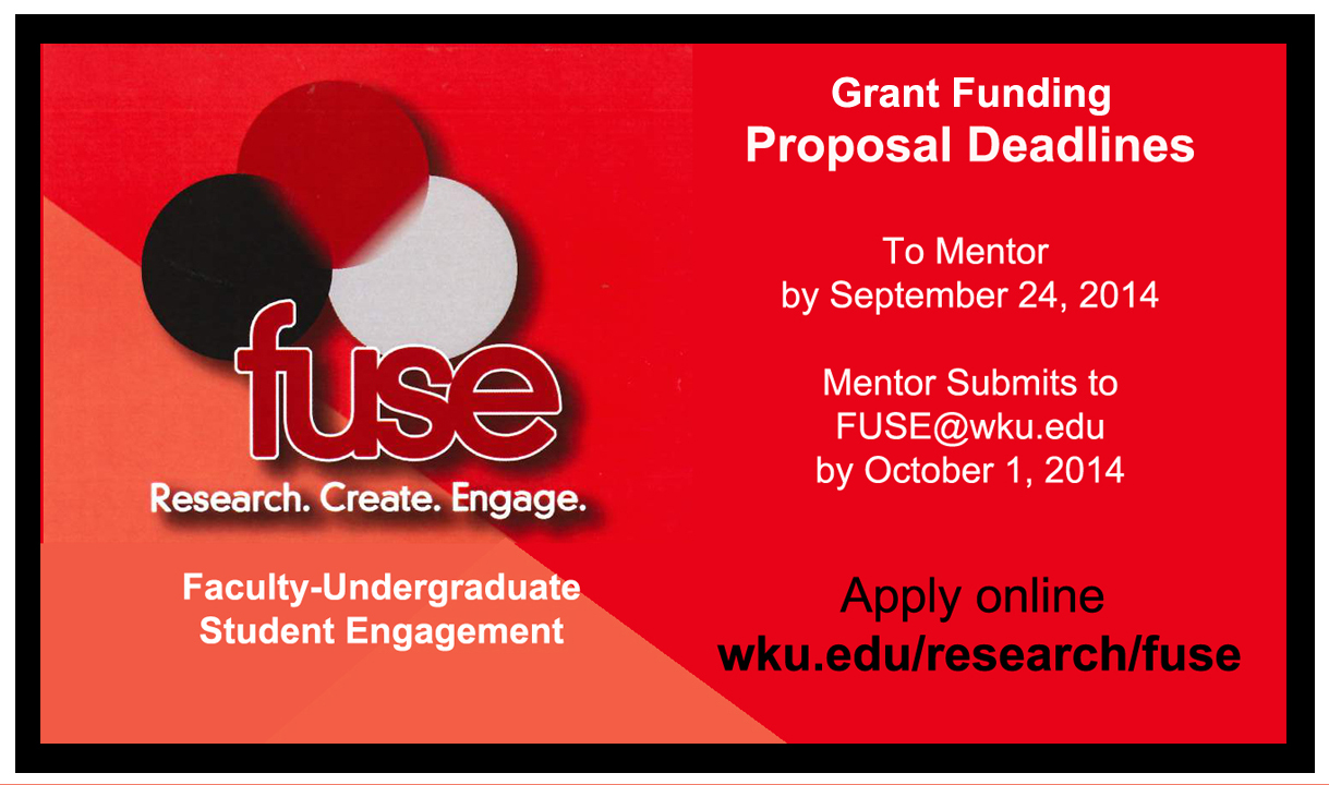 FUSE Deadline September 24, 2014