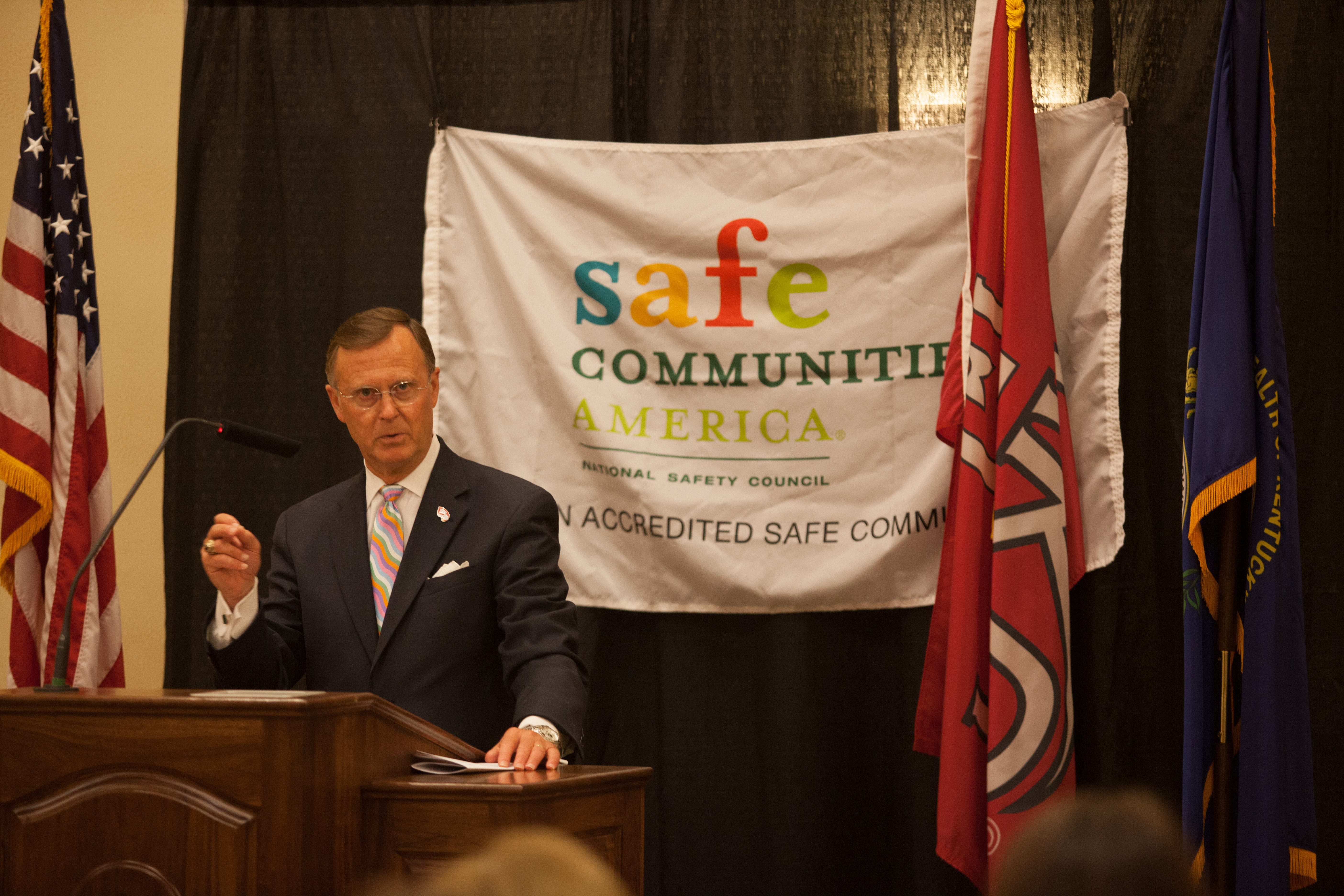 President Ransdell at SC accreditation ceremony