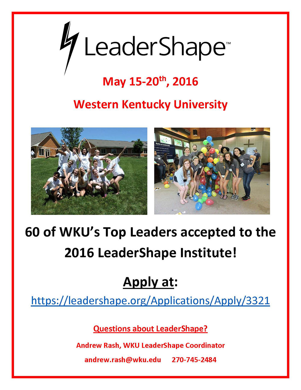 leadershape flyer 2016