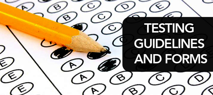 Picture of Standardized Test: Testing Guidelines and Forms