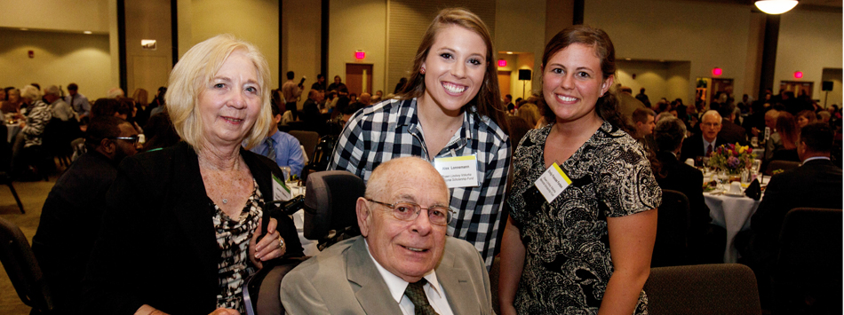 Janice and Dr. John Vokurka meet Alex Lonnemann and Emily Forbes, recipients of the Shawn Lindsey Vokurka Memorial Scholarship.