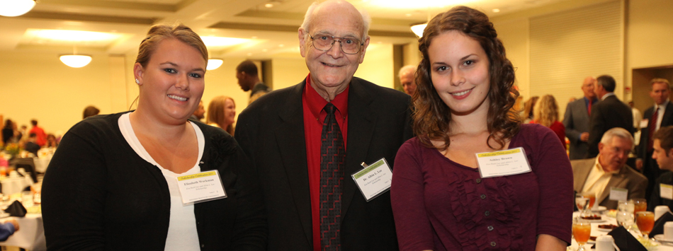Dr. Albin Lee with Ashley Brown, recipient of the Eva Rush Lee and Albin L. Lee Scholarshipp