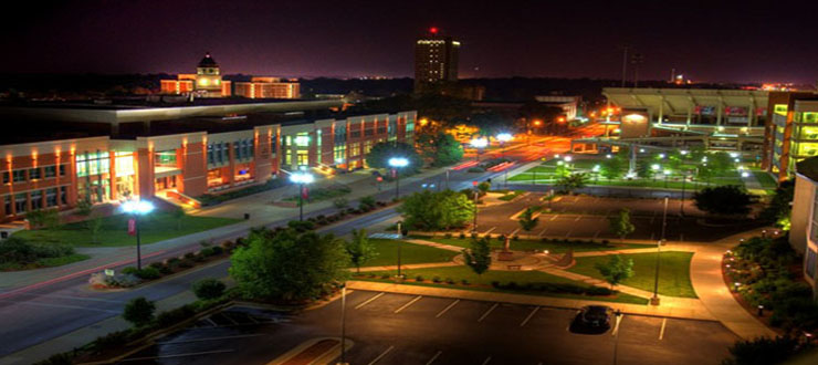 Lower Campus at Night