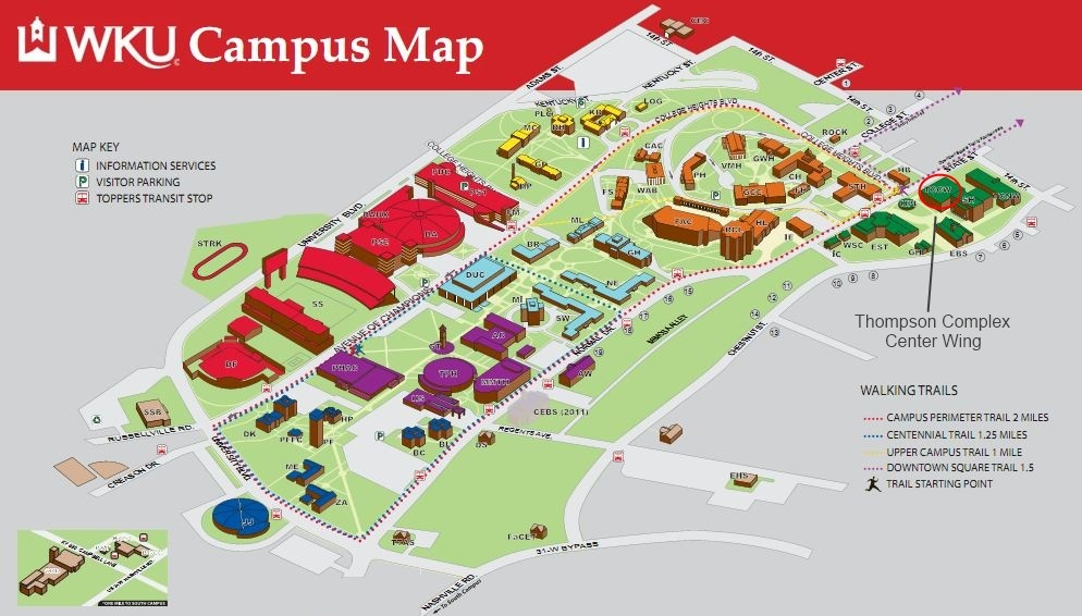 Western Kentucky University Campus Map MAP - Map of western kentucky