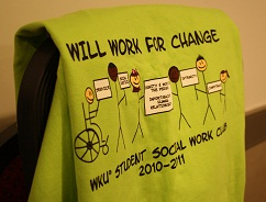 Will work for change T-shirt