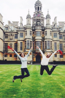 Meredith & Lizzie at Harlaxton