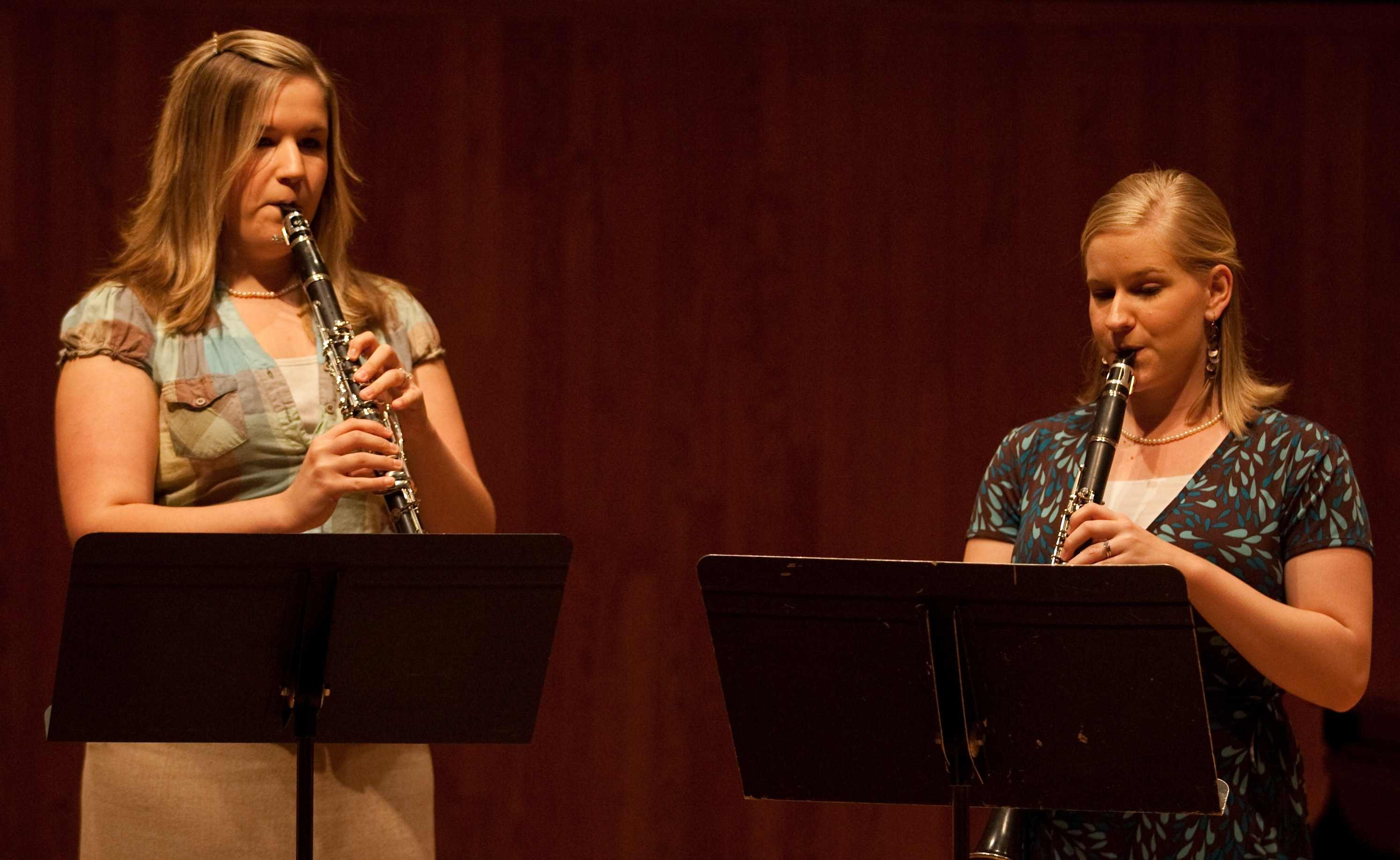 students playing clarinets