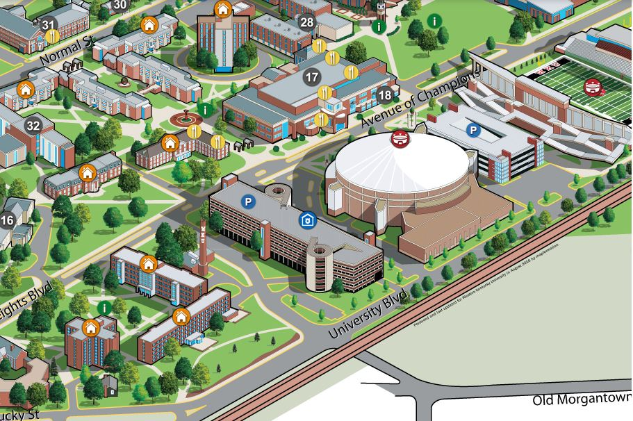 Kentucky Campus Map.Conference Parking Western Kentucky University