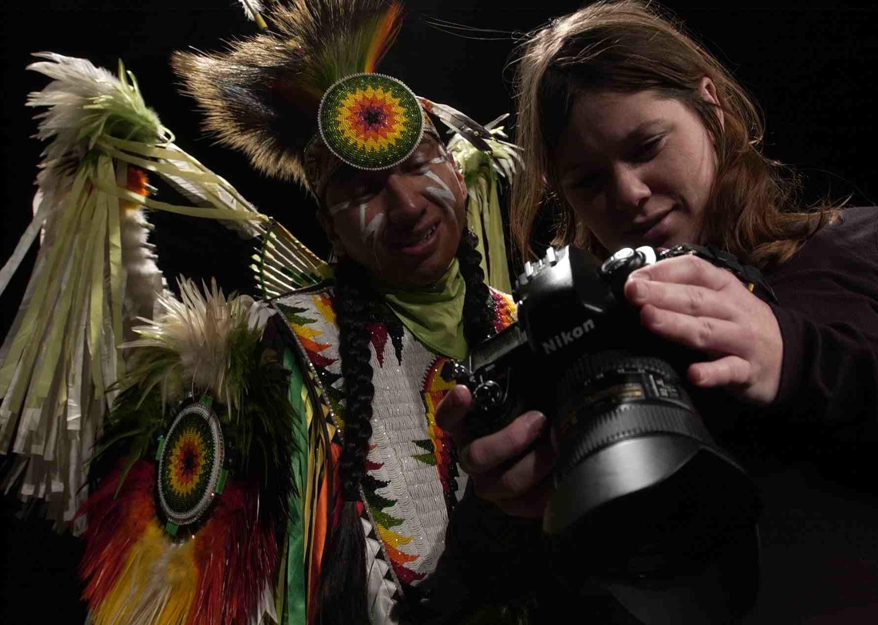 photojournalist/anthropologist with native dancer
