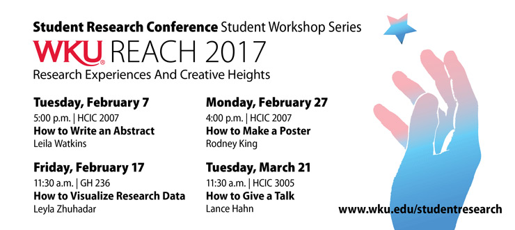 Student Workshops 2017 Schedule