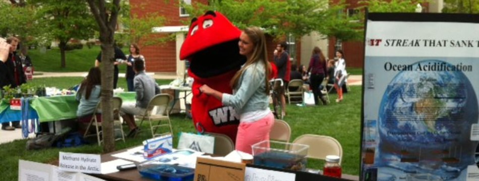 Big Red at the WKU Earth Day Festival 2013