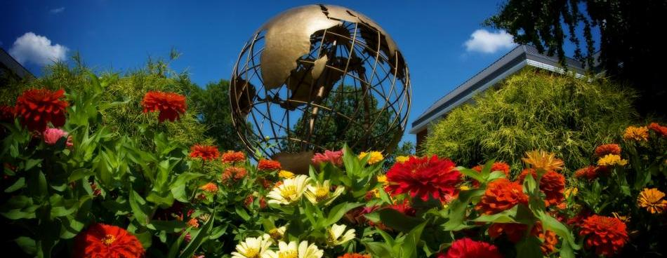 Globe Sculpture at Western Kentucky University
