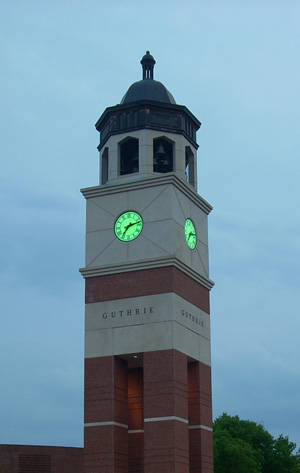 Guthrie Tower on Earth Day