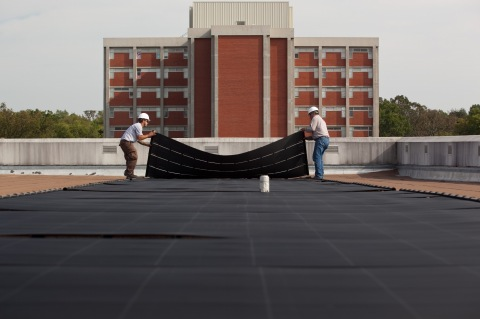 Solar Array Installation on Roof of the Preston Center